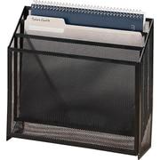 Staples® Metal Mesh 3-Tier File Box, Black