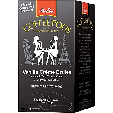 Melitta® Vanilla Creme Brulee Coffee Pods, Regular, 18 Pods