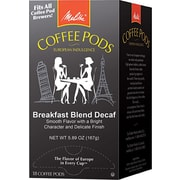 Melitta® Breakfast Blend Coffee Pods, Decaffeinated, 18 Pods