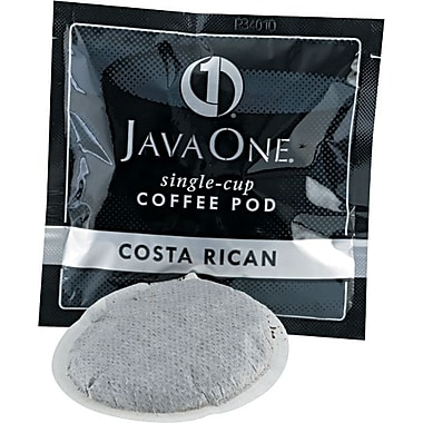Java One® Single Cup Estate Costa Rican Ground Coffee, Regular, .3 oz., 14 Pods