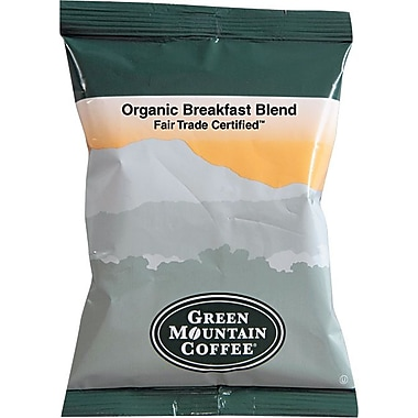 Green Mountain® Fair Trade Organic Breakast Blend Ground Coffee, Regular, 2.2 oz., 50 Packets
