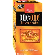 Melitta® One:One Coffee Pods, Vanilla Creme Brulee (Vanilla Caramel), 0.3 oz, 18/Box (55437-75416)