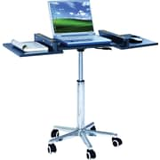 The Sharper Image® Adjustable Height Foldable Laptop Cart, Black