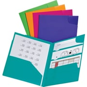 Oxford® Divide It Up® 4-Pocket Folders, Letter Size, 5/Pack