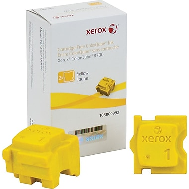 Xerox ColorQube 8700 Yellow Solid Ink Sticks (108R00992), 2/Pack
