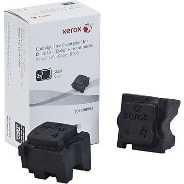 Xerox® 108R00993 ColorQube Black Solid Ink Sticks, 2/Pack