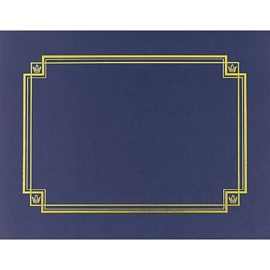 Navy Linen Certificate Covers, 3/Pack