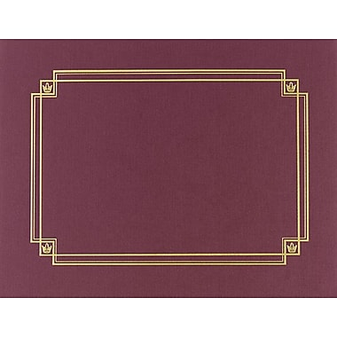 Burgundy Linen Certificate Covers, 3/Pack