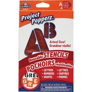 Elmer's® Project Popperz, Stencils - Letters, Numbers & Shapes