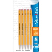 Paper Mate® Sharpwriter® Mechanical Pencils, 0.7mm, Yellow Barrel, 5/pk (30376)