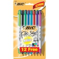 BIC® Clic Stic® Retractable Ballpoint Pens Bonus Pack, Medium Point, Assorted, Bonus Pack, 24/Pack