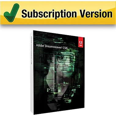 Adobe Dreamweaver CS6 [3 Month Subscription Card]