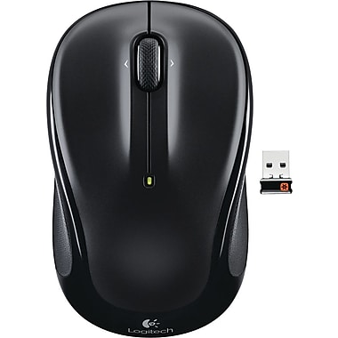 Logitech M325 Wireless Optical Mouse, Ambidextrous, Black (910-002974)
