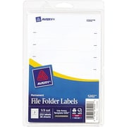 Avery® Print-or-Write File Folder Labels White, 252/Pack (13923/5202)