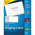 Avery 5352 White Copier Shipping Labels, 2in. x 4-1/4in., 1,000/box