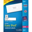 Avery 5161 White Laser Address Labels with Easy Peel®, 1in. x 4in., 2,000/Box
