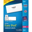 "Avery® 5162 White Laser Address Labels with Easy Peel®, 1-1/3"" x 4"", 1,400/Box"