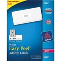 Avery 5260 White Laser Address Labels with Easy Peel®, 1in. x 2-5/8in., 750/Box