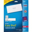 Avery 5261 White Laser Address Labels,  1in. x 4in., 500/Box