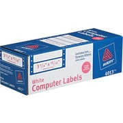 Avery® 4013 White Pin-Fed Computer Labels, 3-1/2 x 15/16, 5,000/Box