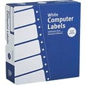 Avery 4031 White Pin-Fed Computer Labels, 3-1/2in. x 15/16in., 15,000/Box