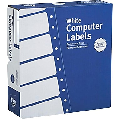 Avery® 4031 White Pin-Fed Computer Labels, 3-1/2