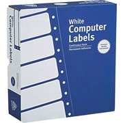 Avery® 4031 White Pin-Fed Computer Labels, 3-1/2 x 15/16, 15,000/Box