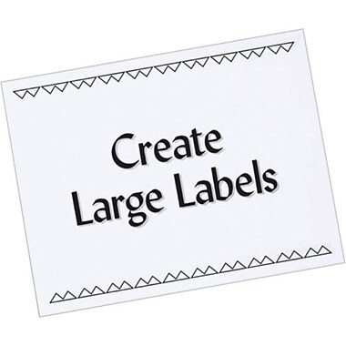 Avery® 5353 White Copier Full Sheet Shipping Labels, 8-1/2