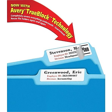 Avery® 5027 Extra-Large White Permanent File Folder Labels with TrueBlock, 450/Pack
