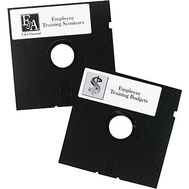 Avery 5 1/4in. Diskette Laser Labels, Permanent, White