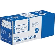 Avery® 4060 White Pin-Fed Computer Labels, 3-1/2 x 1-7/16, 5,000/Box