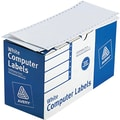 Avery 4022 White Pin-Fed Computer Labels, 4in. x 1-15/16in., 5,000/Box