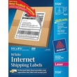 "Avery® 5126 White Laser Internet Shipping Labels with TrueBlock™, 5-1/2"" x 8-1/2"", 200/Box"