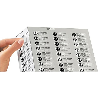 Avery® 5195 White Laser Return Address Labels with Easy Peel®, 2/3in. x 1-3/4in., 1,500/Box
