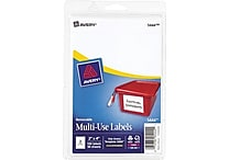 Avery® 5444 Print-or-Write Multiuse ID Labels, 2'H x 4'L, 100/Pack