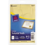 Avery® 5868 Print-or-Write Notarial Labels,Gold, 44/Pack