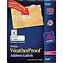 Avery® 5520 White WeatherProof™ Address Labels, 1 X