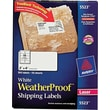 Avery 5523 White WeatherProof Shipping Labels, 2in. X 4in., 500/Box