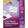 Avery® Self-Adhesive Name Badge Labels, White, 2 1/3in. x 3 3/8in., 400/Pack