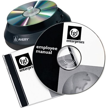 Avery 5695 Laser CD/DVD Design Kit Labeling System, Non-Glossy (Matte) Labels/Inserts