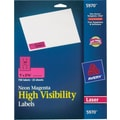 Avery 5970 Neon Laser Address  Labels, 1in. X 2-5/8in., Neon Magenta, 750/Box