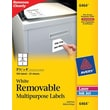 Avery 6464 Removable Inkjet/Laser Labels, 3-1/3in. x 4in., 150/Pack