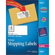 Avery 5963 White Laser Shipping Labels with TrueBlock™, 2in. x 4in., 2,500/Box