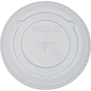 SOLO Straw Slot Lids, 10 oz., 100/Pack
