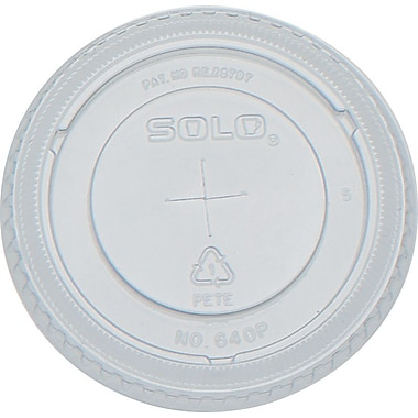 SOLO® Straw Slot Lids for Galaxy® Cold Cups