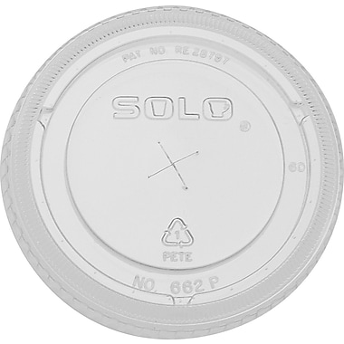 SOLO Straw Slot Lids, 12 oz., 1,000/Case