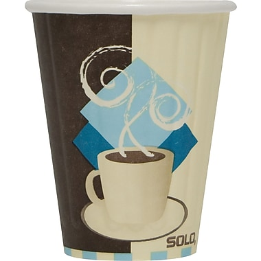 SOLO Tuscan Cafe Duo Shield® Insulated Paper Hot Cups, 8 oz., 50/Pack