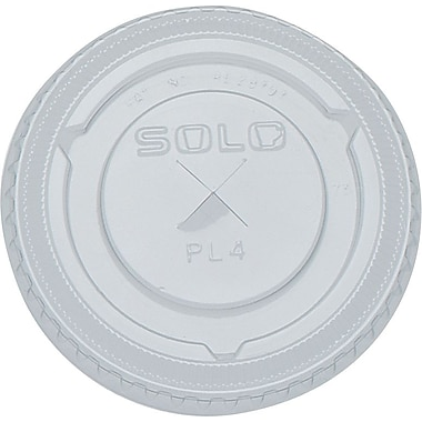 SOLO Straw Slot Lids, 7 oz., 125/Pack