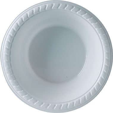 SOLO Plastic Party Bowls, 12 oz., White, 25/Pack