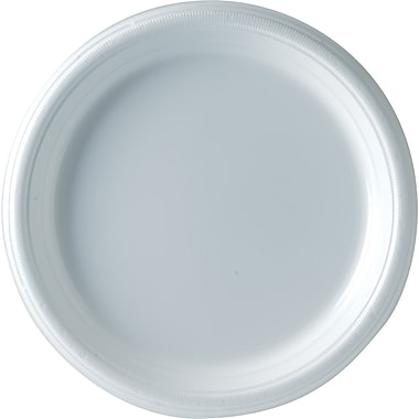 SOLO Plastic Galaxy Plates, 9in., White, 500/Case